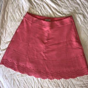 LOFT Peach Scallop Skirt w/cutout design, 10, NWOT